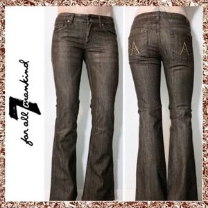 7 For All Mankind 'A' Pocket Jeans Brown